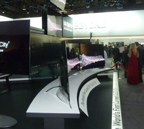 LG Curved OLED TV side view