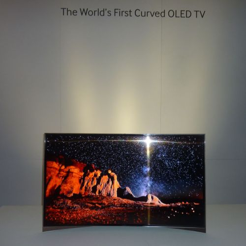 The Worlds First Curved OLED TV 55 inch by Samsung