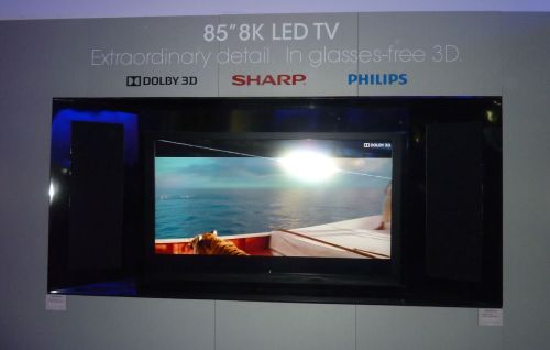 SHARP 85-inch 8K LED TV with Dolby 3D